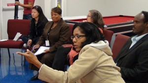Participants discuss community visions.